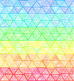 Ornate hand-drawn rainbow triangles vector Royalty Free Stock Image