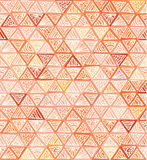 Ornate hand-drawn vintage beige triangles Royalty Free Stock Photo