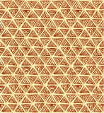Ornate hand-drawn vintage beige triangles Stock Photos