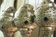Ornate hanging incense burner Stock Images