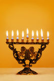 Ornate Hanukkah Menorah royalty free stock images