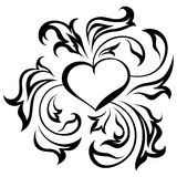 Ornate heart Royalty Free Stock Photos