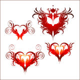 Ornate heart Royalty Free Stock Images