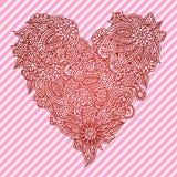 Ornate heart Stock Photography