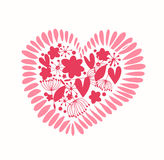Ornate heart with many details  Cute design elemen Stock Image