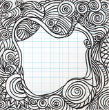 Ornate heart sketch Stock Images