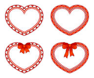 Ornate hearts Royalty Free Stock Image