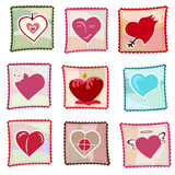 Ornate hearts vector. 9 different ornate heart vector Royalty Free Stock Image
