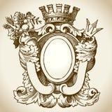 Ornate Heraldic Emblem 2 Stock Photos