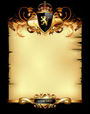 Ornate heraldic frame Royalty Free Stock Photos
