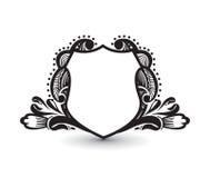 Ornate heraldic shields Royalty Free Stock Photos