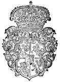 Ornate heraldic shields Royalty Free Stock Photography