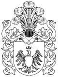 Ornate heraldic shields Stock Photo