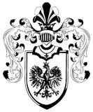 Ornate heraldic shields Royalty Free Stock Photos
