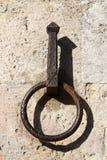 Ornate hitching post. San gimignano tuscany southern italy europe Royalty Free Stock Photo