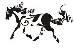 Ornate horse. Spotty decorative horse isolated on a white background Royalty Free Stock Image