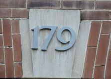 Ornate house number royalty free stock images