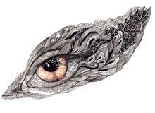 Ornate human eye stock illustration