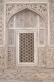 Ornate Inlaid Marble on Mogul Tomb Royalty Free Stock Photos
