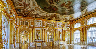 Ornate interior of the Catherine Palace Royalty Free Stock Images