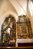 The ornate interior of the Church of Saint Giles in Krakow Poland Stock Photo