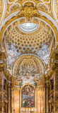 Ornate interior of the Church of San Luigi dei Francesi in Rome Royalty Free Stock Photos