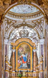 Ornate interior of the Church of San Luigi dei Francesi in Rome Royalty Free Stock Photo