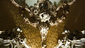 Ornate interior design with female bust stock video