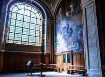 Ornate Interior Detail, Eglise Saint Sulpice, Saint-Germain-des-Pres Stock Photo