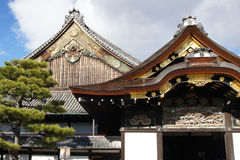 Ornate Japanese gables Royalty Free Stock Photo