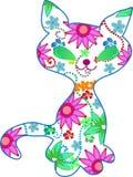 Ornate kitten  illustration Royalty Free Stock Photo