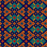 Ornate knitting seamless motley pattern Stock Photography