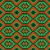 Knitted ornate seamless pattern Stock Photo