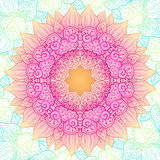 Ornate lacy flower vector circle pattern Stock Photo