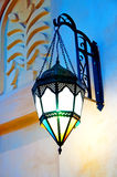 Ornate Lamp. An ornately decorated lamp hanging in a Dubai Souk Royalty Free Stock Photography
