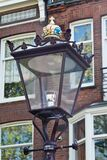 Ornate lamp post in Amsterdam Royalty Free Stock Photos
