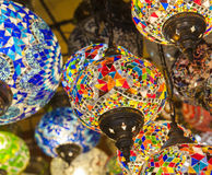 Ornate lamps hanging at a market Royalty Free Stock Photography
