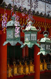Ornate Lanerns Hanging at a Temple Royalty Free Stock Images