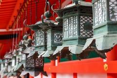 Ornate lanterns at Kasuga Grand Shrine Stock Photos