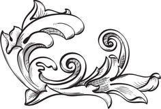 Ornate leaf Royalty Free Stock Photo