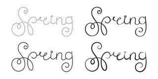 Ornate lettering spring Stock Images