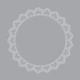 Ornate letterpress frame Royalty Free Stock Images