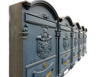 Ornate Mailboxes With Armorials Royalty Free Stock Images