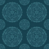 Ornate Mandala seamless texture endless pattern Royalty Free Stock Image