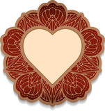 Ornate mandala for Valentine day with heart - decorative orienta Stock Photos