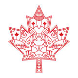 Ornate Maple Leaf Royalty Free Stock Photo