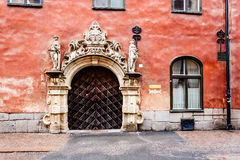 Ornate Marble Gate in Stockholm Old Town (Gamla Stan) Royalty Free Stock Photography