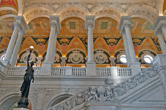 Ornate Marble Stairs Frescoes Stock Photography