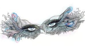 Ornate mask. With eyes (Cbm painting Royalty Free Stock Photos