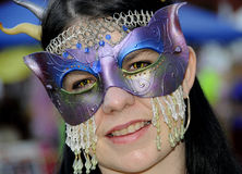 Ornate Mask Costume 2 Royalty Free Stock Images